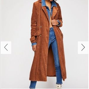 RARE NWT Free People Abby Road corduroy coat jacke